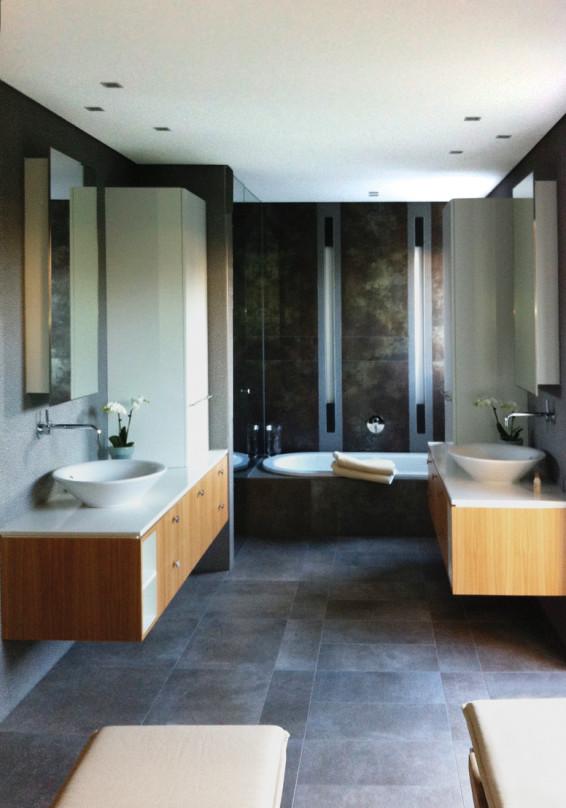 Badezimmer mit Sauna