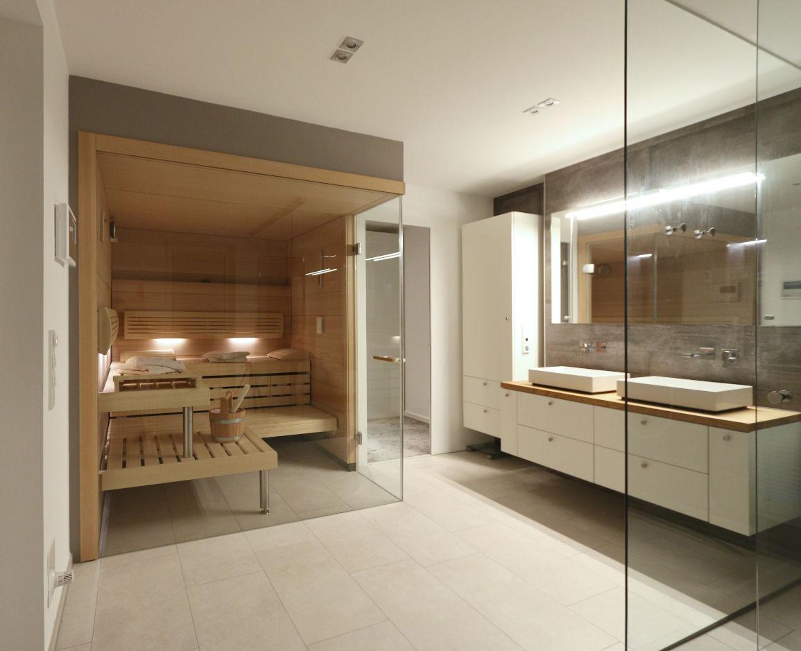 Umbau Bad mit Sauna